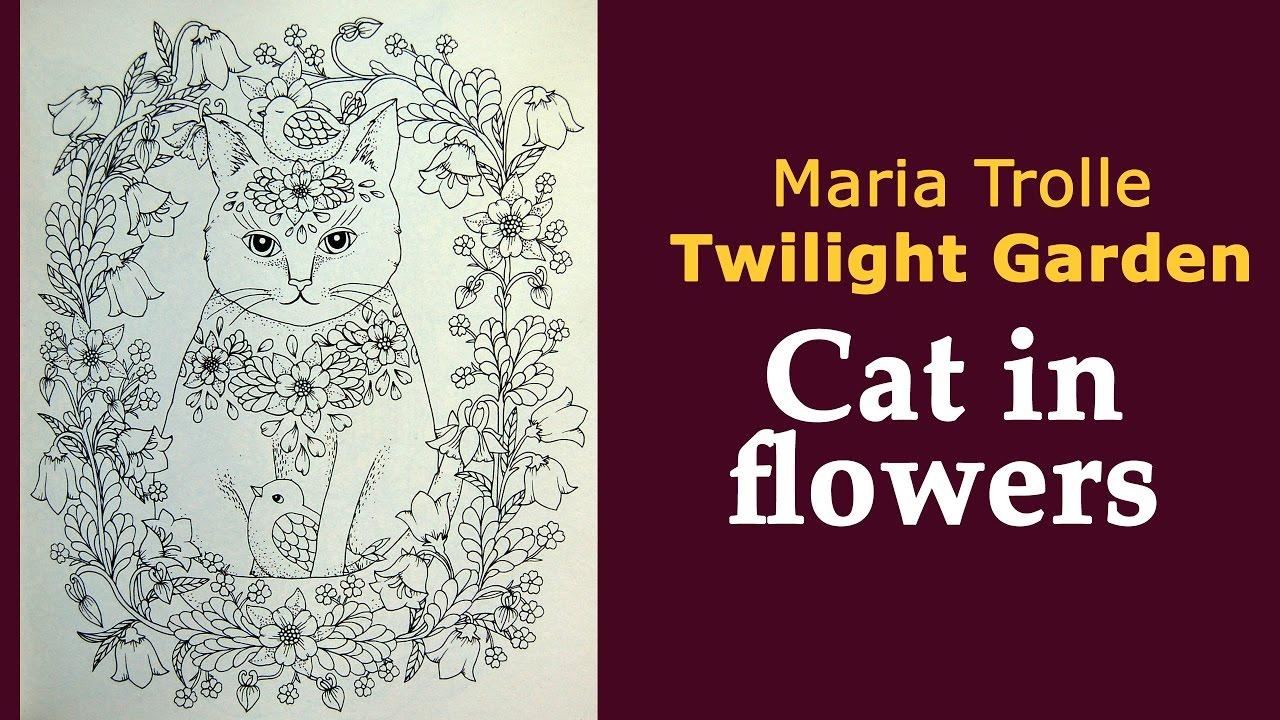 Colouring Twilight Garden Cat