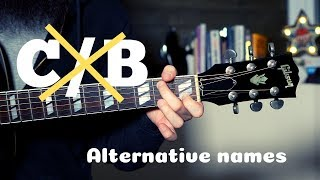 c/b: what-s the actual chord name?