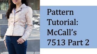 How to make a peplum jacket– McCall's 7513 Pattern Tutorial Part 2
