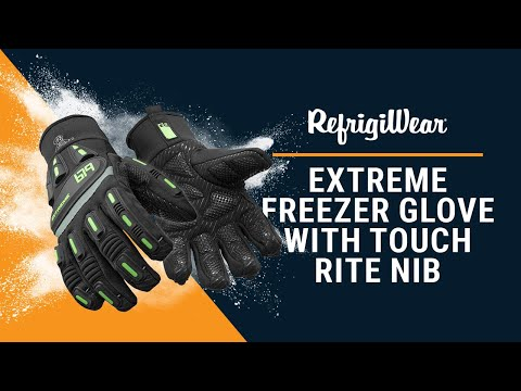 Extreme Freezer Glove With Touch Rite Nib - RefrigiWear® Product Video