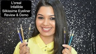 *NEW L'oreal Infallible Silkissime Eyeliner Review & Demo