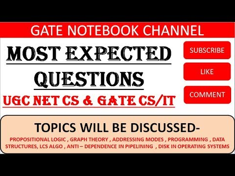 7 PM | EXPLANATION On Most Expected Questions For GATE & UGC NET CS