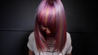 EXTREME HAIR MAKEOVER - RAINBOW HAIR