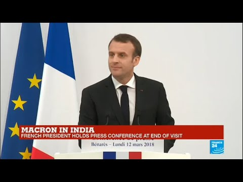 Emmanuel Macron in India: French president holds press conference in Varanasi