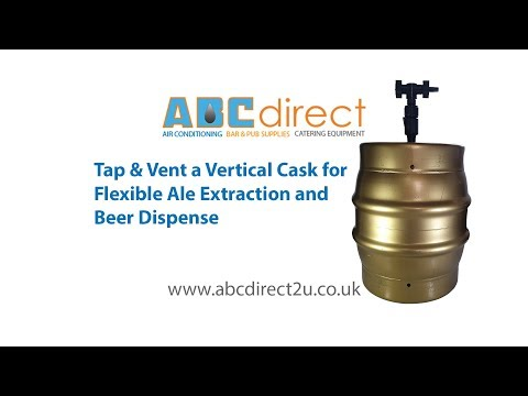 Tap A Vertical Cask And Set Up Flexible Cask Widge Ale Extractor For Upright Dispense