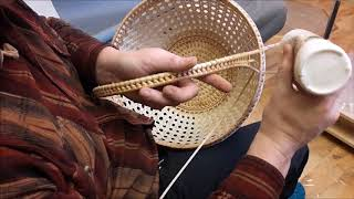 Плетение ручки крупным планом