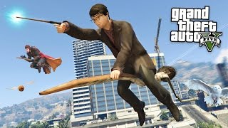 GTA 5 Mods - HARRY POTTER MOD w/ WAND & BROOM!! GTA 5 Harry Potter Mod! (GTA 5 Mods Gameplay)