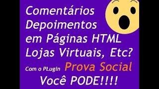 Plugin Prova Social 1.0.3 (Agora Funciona em Páginas HTML e Outros CMS)