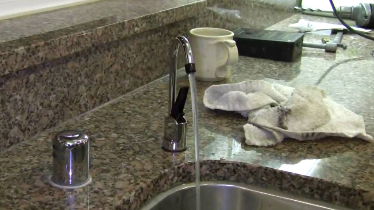 kitchen water filters aid bowls how to install an undersink filter youtube