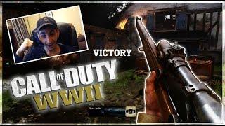 My First Trickshot on WWII! - Call of Duty WWII Gameplay/Trickshotting!
