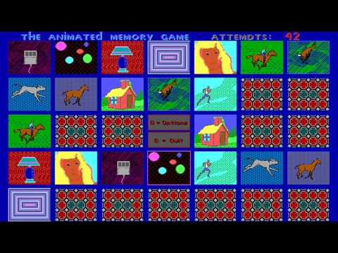 The Animated Memory Game (FLIX Productions Animated Software) (MS-DOS) [1991]