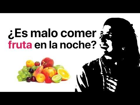 malo comer fruta de noche