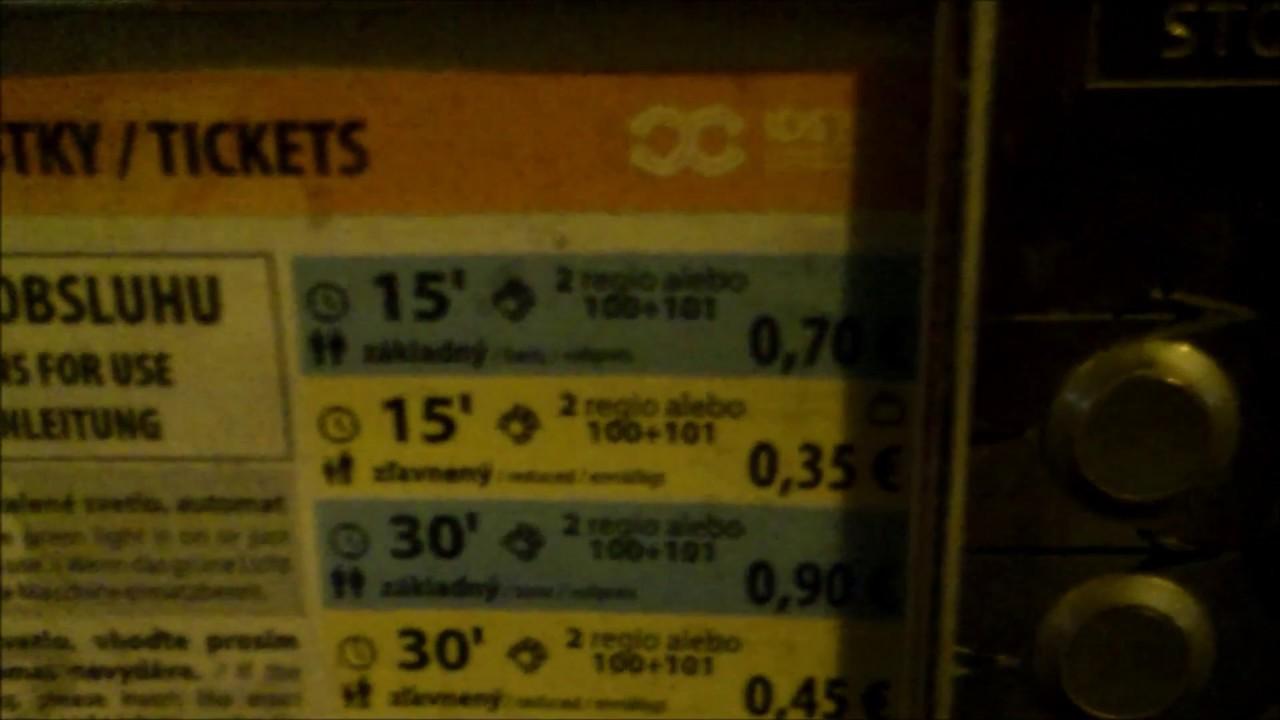 Как покупать билеты на транспорт в Словакии и Чехии