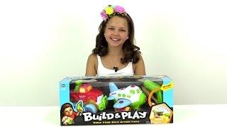 Обзор игрушек: BUILD PLAY. Настя разбирает джип и самолет. Видео для детей.(Сегодня Настя расскажет вам об игрушке настоящих мальчишек - BUILD PLAY. Ведь внутри набора столько разных интер..., 2015-08-03T09:25:14.000Z)