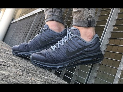 pretty nice e65e2 66acc Nike Air Max 2017 Grey Black 849559-008 video | Sneakersenzo