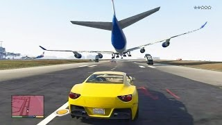 GTA 5 #22: Perseguição Épica / Salto do Avião para a Piscina - PS3 / Xbox 360 HD Gameplay