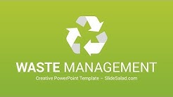 Waste Management PowerPoint Template and Infographics for Presentations