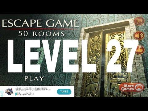 Escape Game 50 Rooms 1 Level 27 Walkthrough Youtube