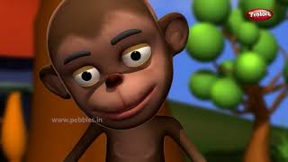 Monkey Rhyme in Hindi |Song For Babies | Hindi Rhymes For Children  | Action Songs For Kids