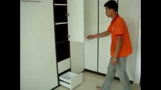 Hdb-jurong East-blk221a-hwb-singlex2+table+wardrobe+cabinets.hiddenwallbed.hiddenbed,wallbed