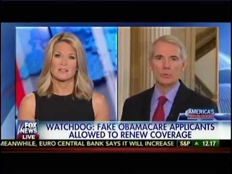 Portman Discusses Investigation into Improper Obamacare Subsidy Payments on Fox News