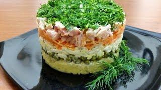 Праздничный САЛАТ с копченой курицей -Ани Кухня!