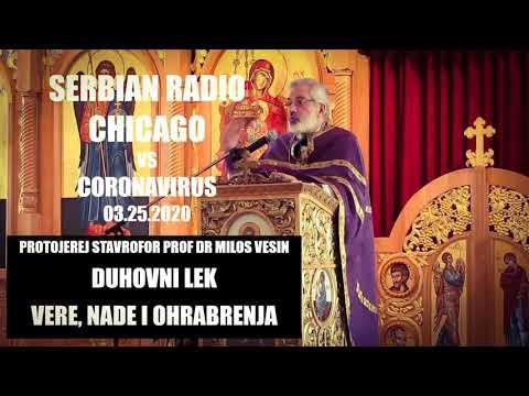 NEW! Serbian Radio Chicago – Protojerej Stavrofor Prof Dr Milos 03.25.20