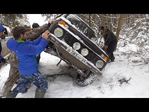 Ломаем лёд, машины! Новый УАЗ Патриот с блоком. Нивы, Дастеры, ГАЗ, Хонда. Бездорожье оффроад 2018