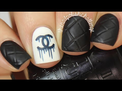 easy chanel designer nail art diy