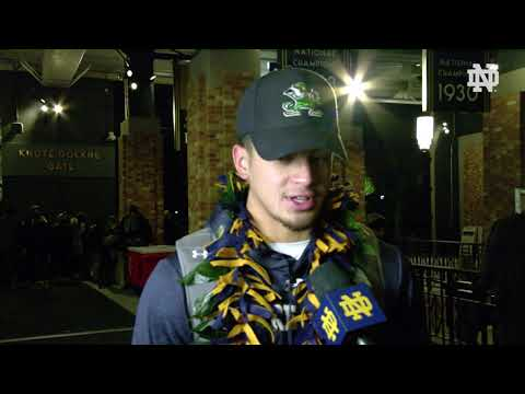 @NDFootball | Alohi Gilman Post-Game Interview vs. Florida State (2018)