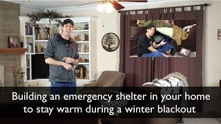 How to Keep Warm Without Heat - In House Survival Shelter
