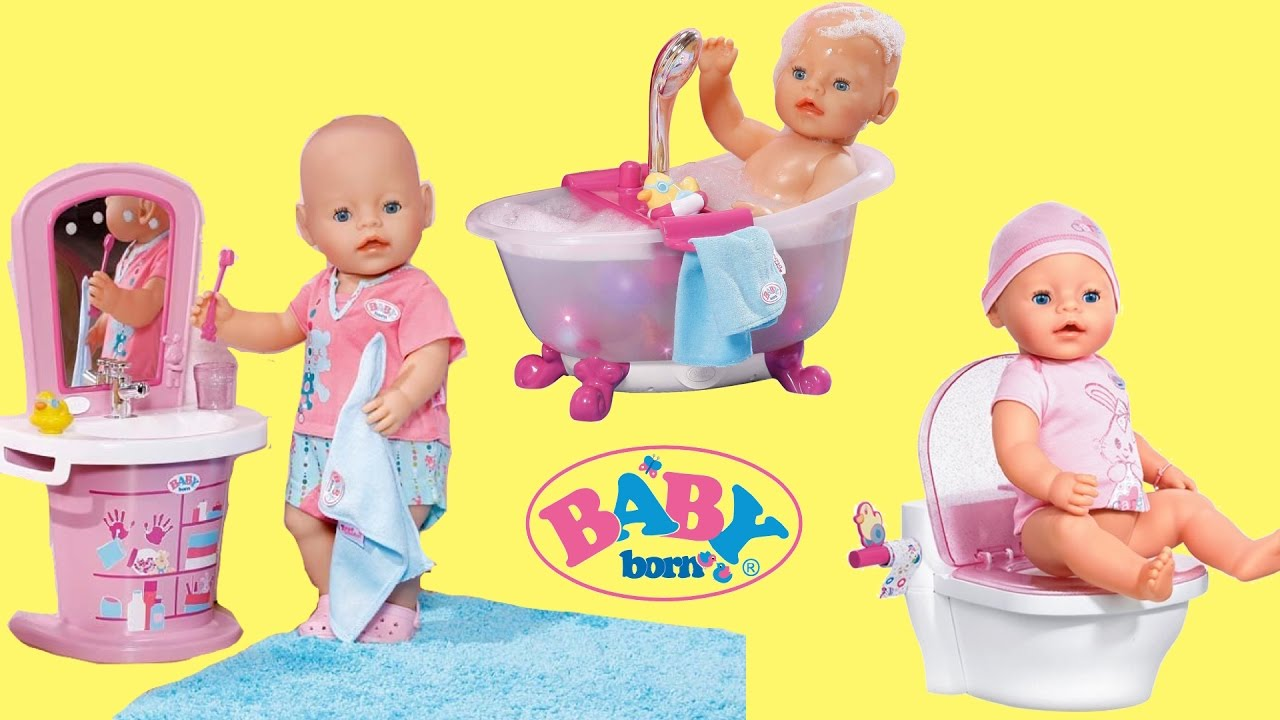 Baby Born Washbasin Bathtub Amp Magic Potty Dolls Toys