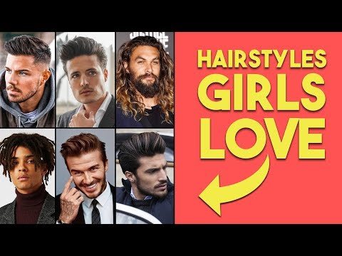 10 Hairstyles Girls LOVE on guys! | Best Hairstyles for Men thumbnail