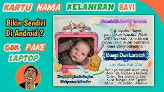Cara Membuat Kartu Nama Kelahiran Bayi Keren Di Android Picsart Tutorial