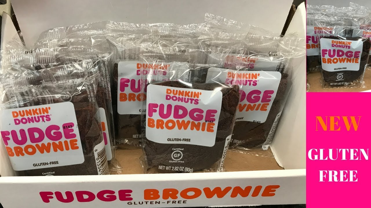 Dunkin Donuts NEW GLUTEN FREE Fudge Brownies Review