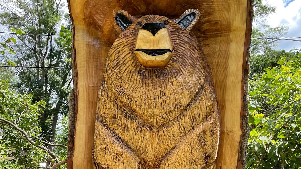 Tree sculpture commemorates Dorval bear