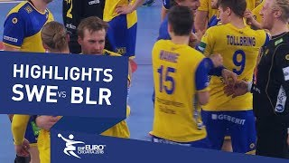 Highlights | Sweden vs Belarus | Men's EHF EURO 2018