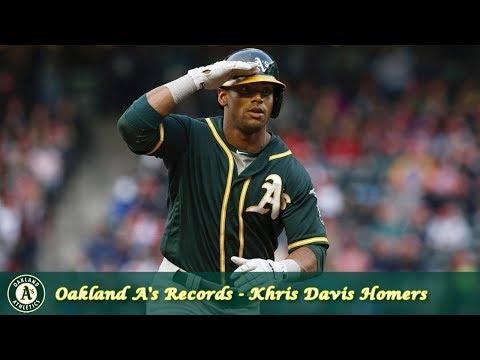 Oakland Athletics Milestones Episode 3 - Khris Davis Hits Forty HR Two Straight Seasons