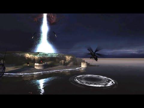 Half-Life 2 MINERVA Metastasis: 4 Pegasus to gunship meeting point on ground side of island