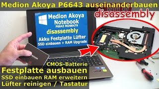Video Medion Akoya Notebook öffnen | SSD HDD wechseln | P6643 MD98479 | RAM Lüfter Laptop Windows 10 download MP3, 3GP, MP4, WEBM, AVI, FLV Juli 2018