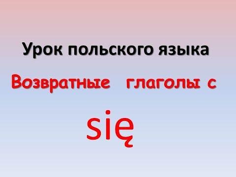 Польские глаголы с частицей Się