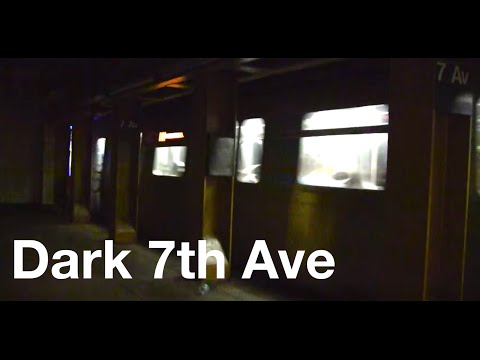 ᴴᴰ Dark 7th Avenue Station B and Q Train Action