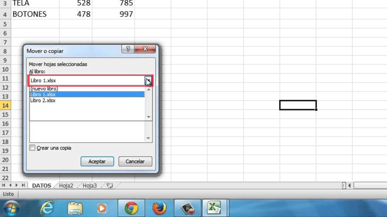 Cómo copiar una hoja de cálculo a otro libro en Excel 2010 - YouTube