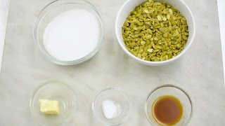 How to Make Sweet, Crunchy Pumpkin Seed Brittle For Fall