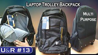 U&R #13 | NOVEX Multi-Purpose Wheel Bag Unboxing & Review | Laptop Trolley Backpack