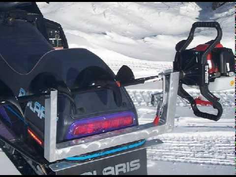 Ice Auger Carrier, ATV Auger Rack, Auger Holder, Snowmobiles Digger