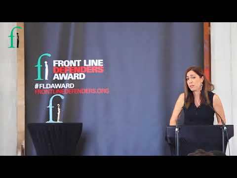 2018 Front Line Defenders Award Ceremony - Nurcan Baysal Speech