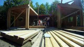 Framing Walls - 3rd Floor - 35 - My Garage Build Hd Time Lapse