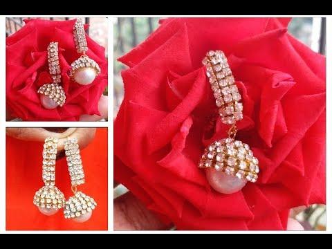 Earrings making at home easy DIY//silk thread earrings