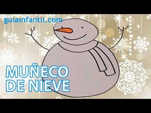 Dibujo de Navidad para niños. Muñeco de nieve - YouTube
